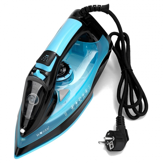 2200W Powerful Electric Garment Steamer Steam Iron For Clothes Nonstick Soleplate 3 Level Adjustable Temperature Wet Dry