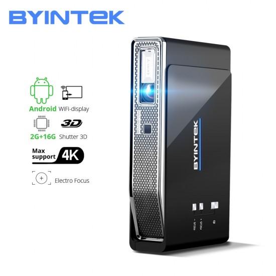 BYINTEK R15 Full HD 1080P 3D 4K 5G Smart Wifi Android Beamer Portable LED DLP Mini Projector Beamer for 300inch Home Theater