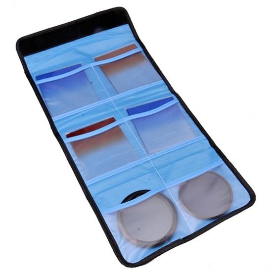 Camera UV CPL FLD ND COLOR Filter Wallet Lens Adapter Ring Storage Bag Case Pouch Holder 3 4 6 Pockets X