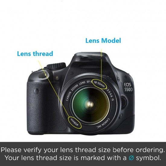 3pcs UV CPL 3-in-1 Lens Filter Set with Bag Camera Color Lens UV Protector Filter Replacement