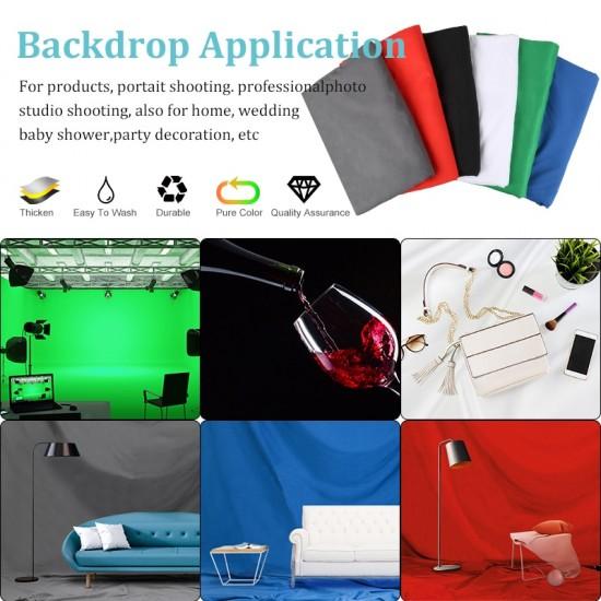 3X1/2/3/4/6M Photography Backdrops Polyester Cotton Photo Studio Backdrop Green Screen Chromakey Photo Shoot Background 6 Colors
