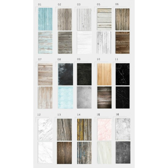 57X87cm Photography Marbling Backdrop 2 Sided Photo Background Wood Grain Waterproof Backdrops Paper Studio Photo