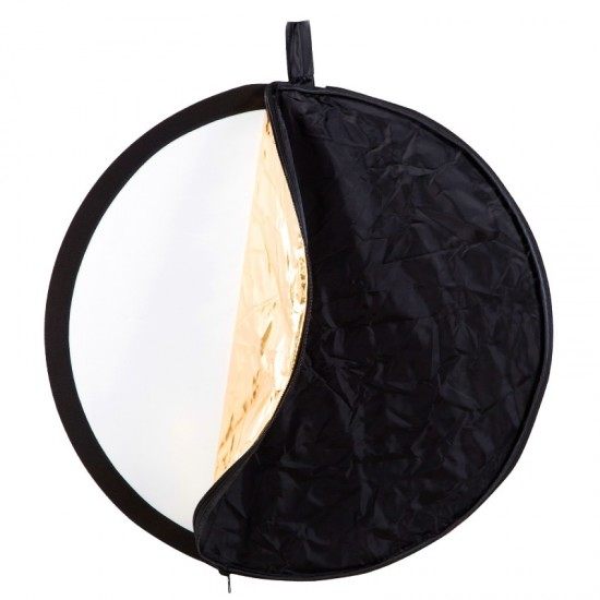 BEIYANG 60cm 5 in 1 Portable Collapsible Light Round Photography Reflector Multi Handheld Photograph Studio Light Reflector